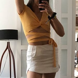 Urban Outfitters yellow cropped top